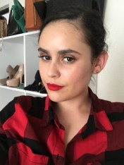 Red bright classic lips