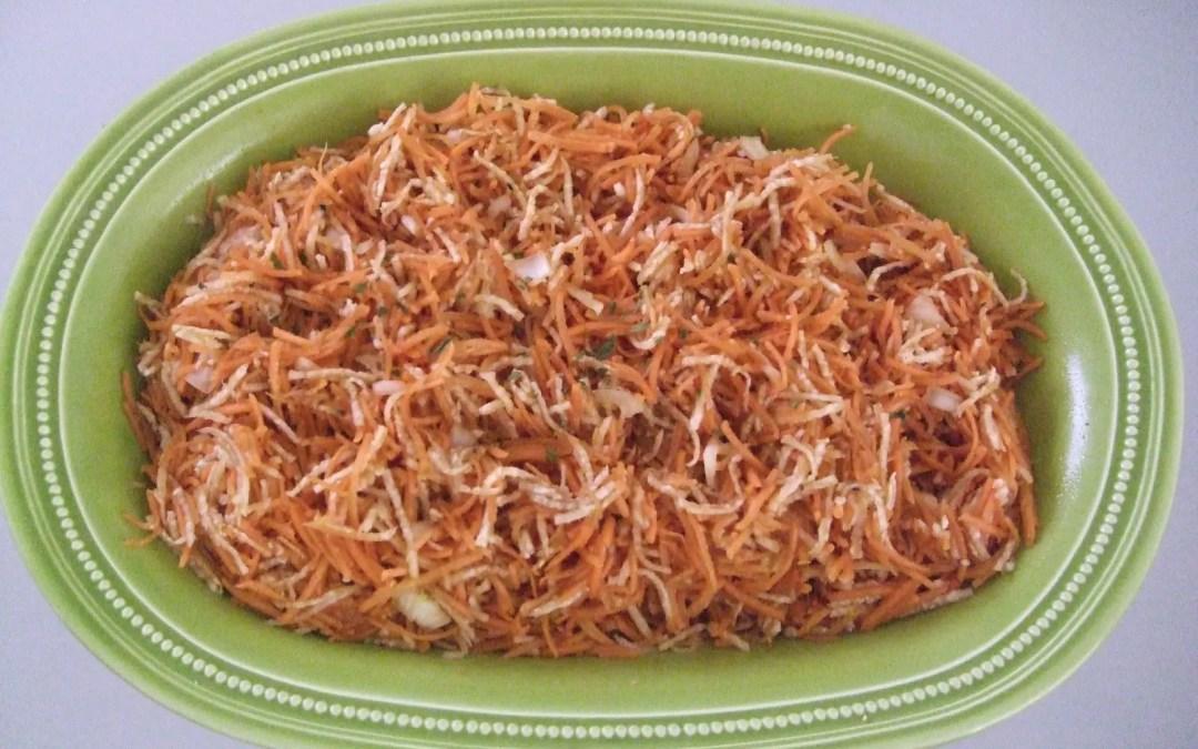 carotte râpée et radis noir