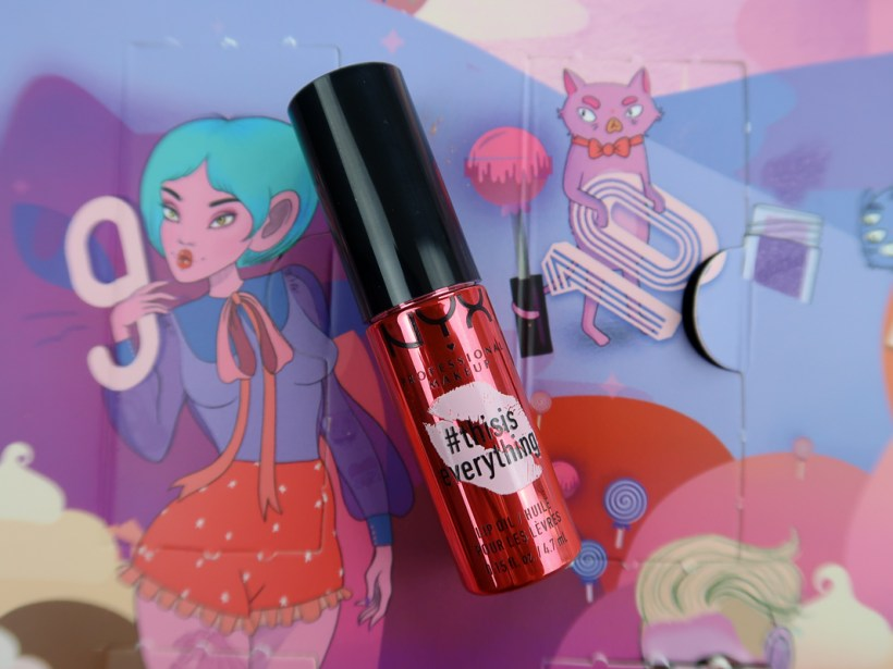 #thisiseverything Lip Oil CRANBERRY MINT - calendrier de l'avent Sugar Trip de NYX.