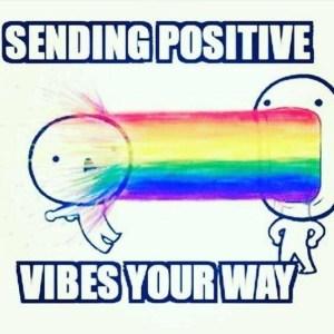 positive attitude arc en ciel rainbow