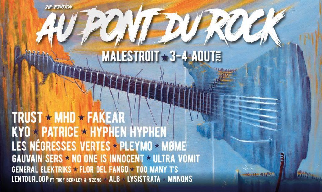 Affiche festival Au Pont du Rock