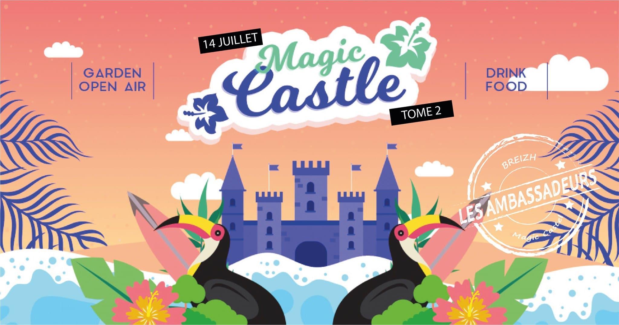 Affiche open air au Chateau de la Motte Beaumanoir le 14 juillet 2021