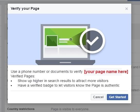 Para verificar tu página, puedes usar el número de teléfono público de tu empresa o uno de sus documentos