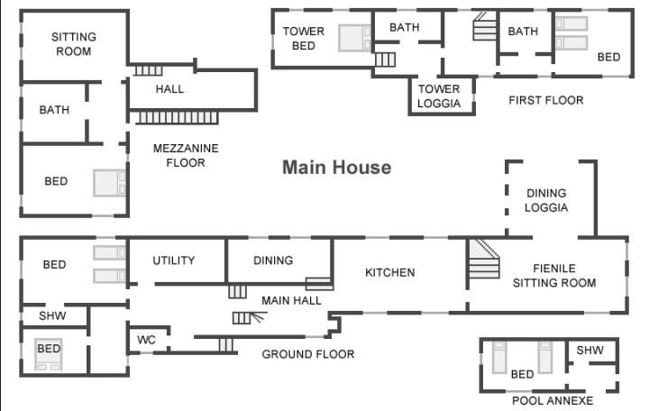 Tuscan Farmhouse Floor Plan 2018