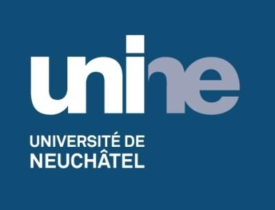 Logo UniNE négatif couleur