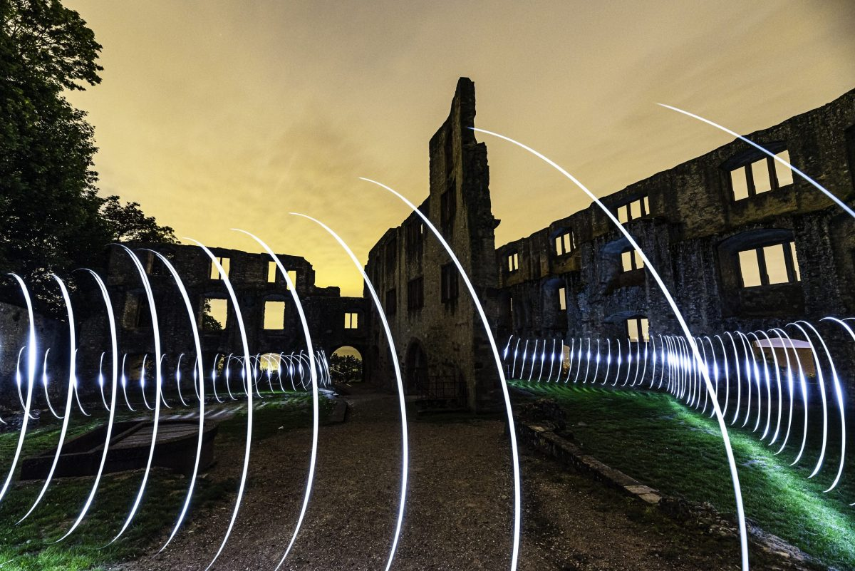 Lightpainting in der Landskrone. (Foto: Andreas Lerg)