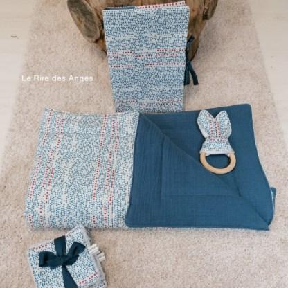 couverture matelassee bleu bebe