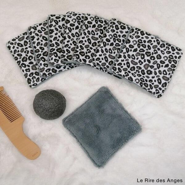 lingette lavable leopard