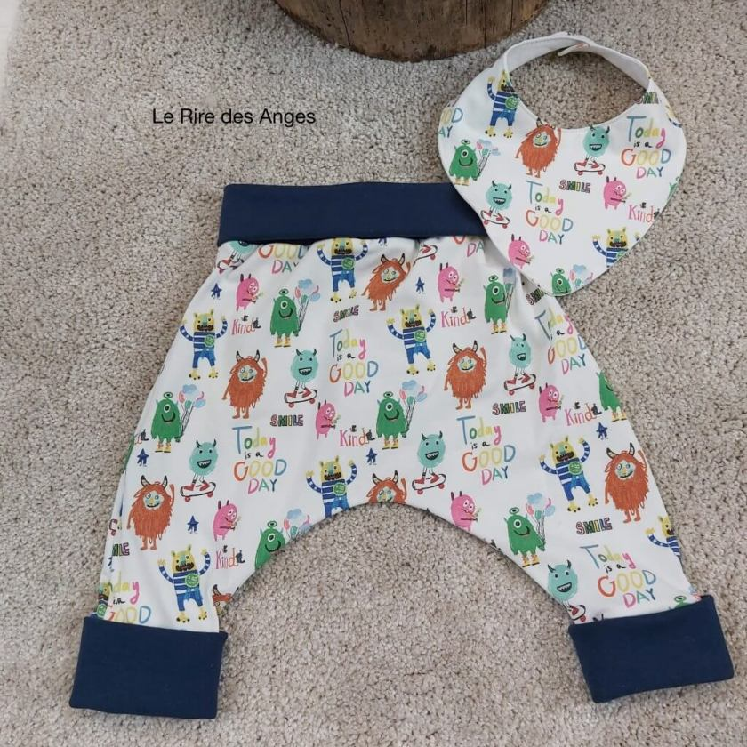 pantalon evolutif petits monstres