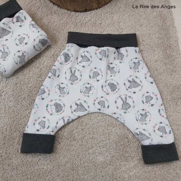 pantalon evolutif velours herisson