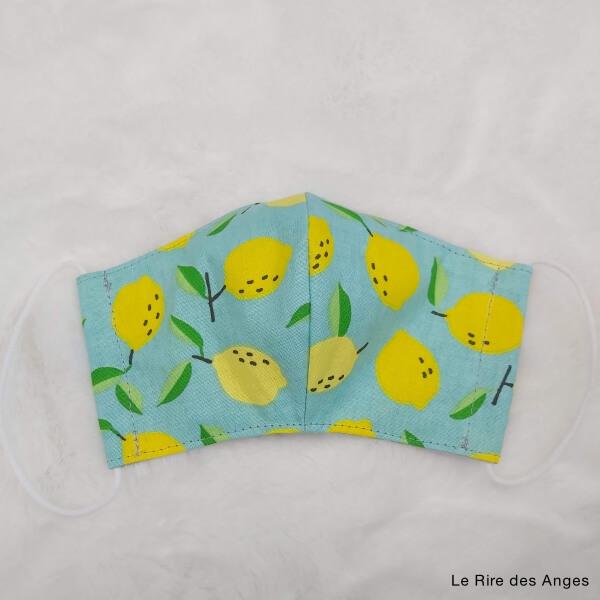 citron masque lavable enfant