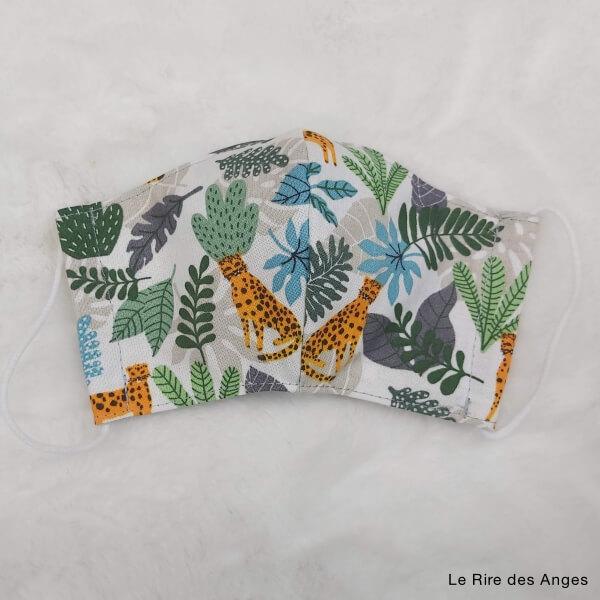 jungle masque lavable enfant