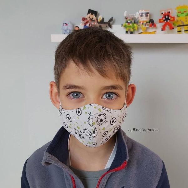 masque enfant foot