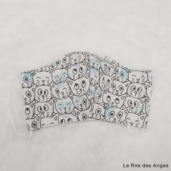 masque lavable chat
