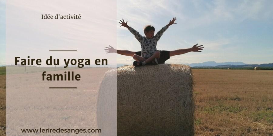 comment faire du yoga en famille
