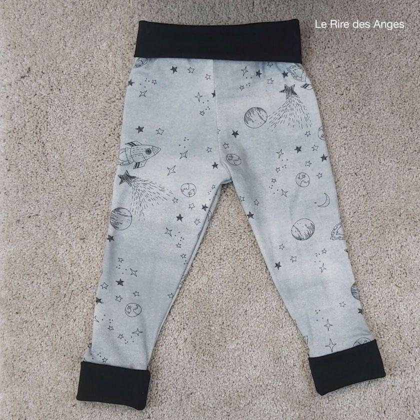 pantalon evolutif enfant espace
