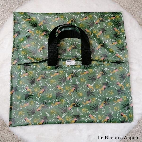 sac tarte coton enduit tropique