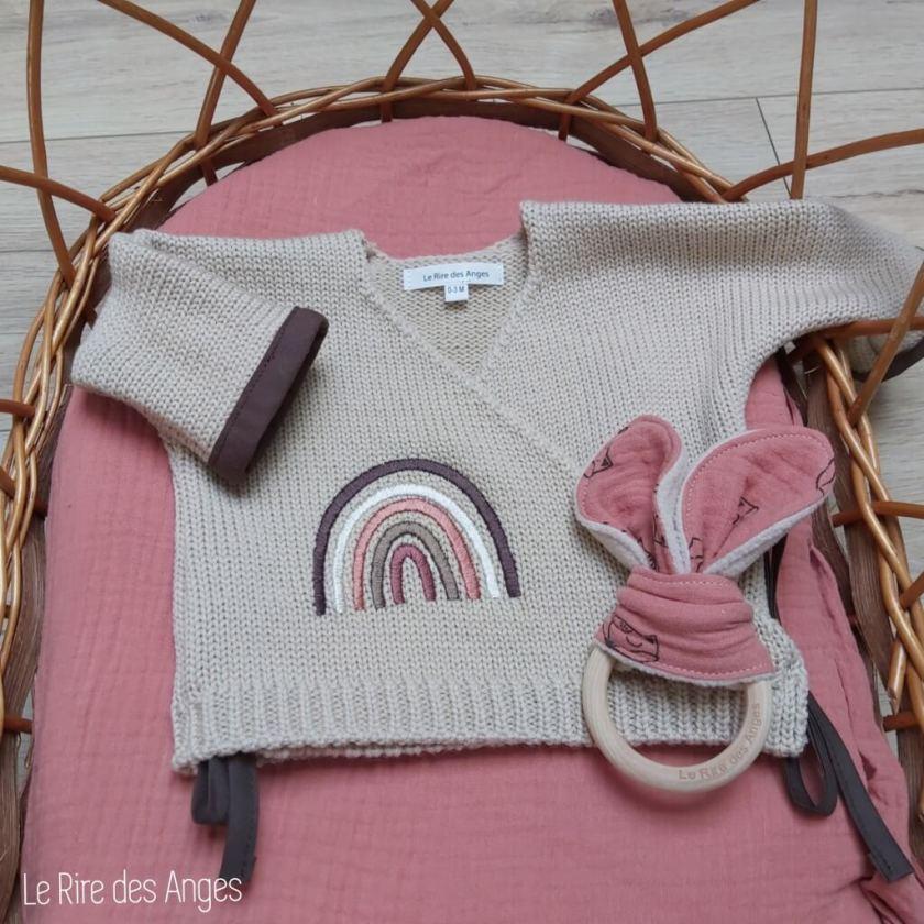 brassiere laine bebe arc ciel marsala