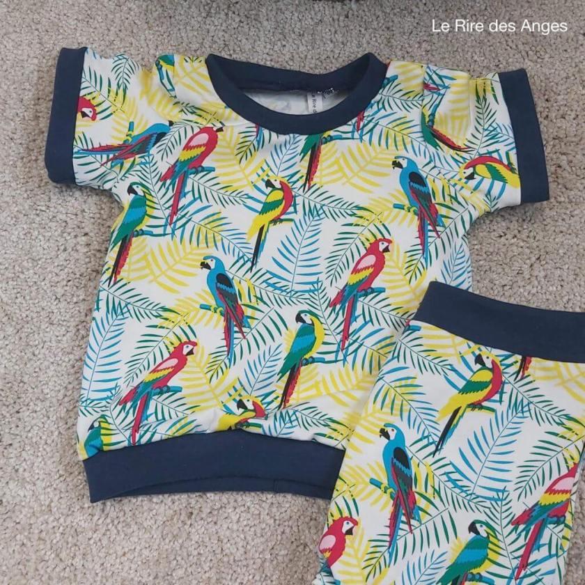 perroquet tshirt enfant