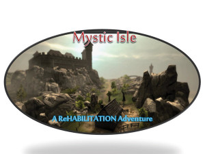 Figure 3. The same underlying concepts from Jewel Mine were incorporated into Mystic Isle, which places the player on a 3D virtual island. The backgrounds, game objects, and tasks vary depending on the player's location on the island. Through the game tasks, the player moves around the island collecting objects.