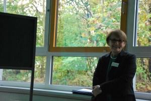 Frau Hese beim Vortrag über Ängste