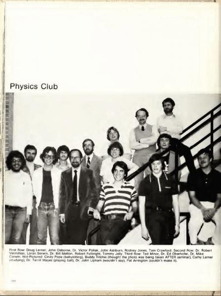 Physics Club UNCC circa 1975