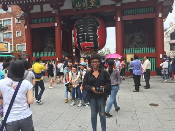 In front of the Sensoji in Asakusa
