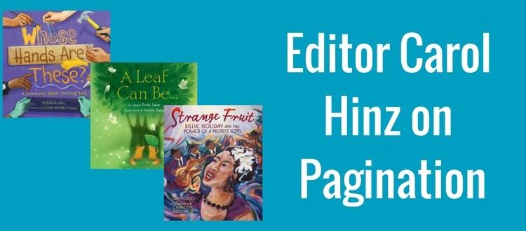 Picture book manuscript pagination