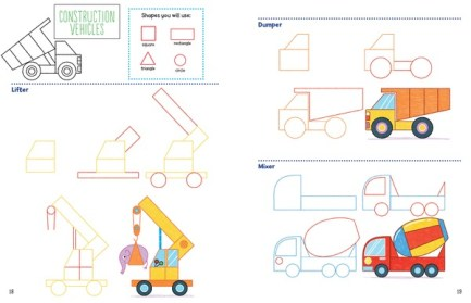 Let's Draw Vehicles with Crayola spread