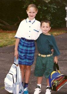 Rebecca Caprara and her brother