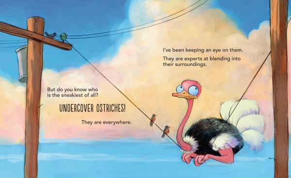 Undercover Ostrich spread
