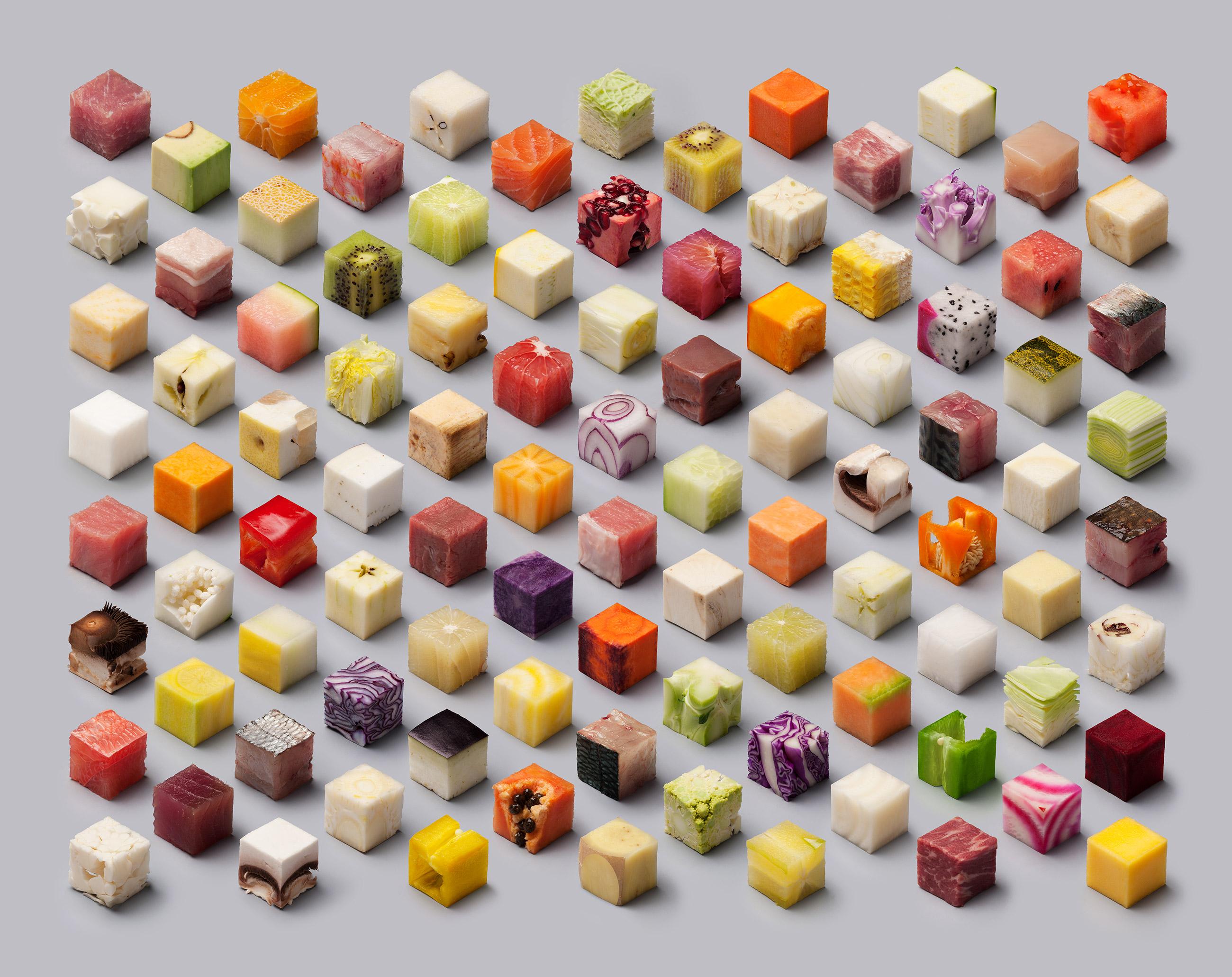 food cube art