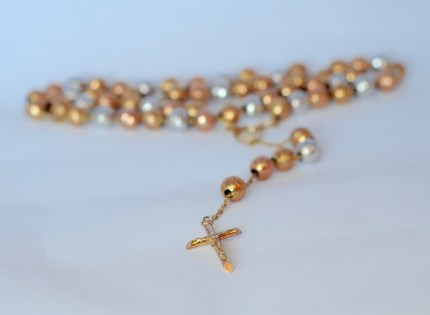 Rosary Necklace Tricolor