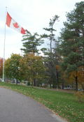 The big Canadian flag at the rest stop.