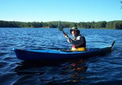 James' kayak action shot.