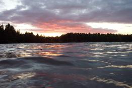 Wavey Sunset on Pog Lake.