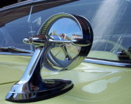 A Chevy Impala side view mirror.