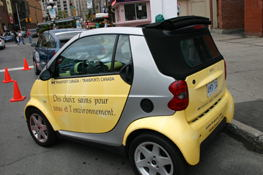A SMART car - soon (fall 2004) to be available in Canada!  I hope  these catch on.