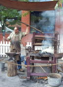 The Blacksmith at work again.