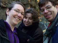 Lookie!  It's us and Sara!