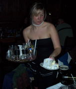 Our lovely waitress for the evening.  She's a sweetie!