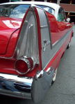 The tail fin of a Plymouth Fury, taken at the Byward Market Auto Classic, June 2002.