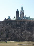 Parliament Hill from below.