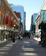 Looking West down Sparks Street.