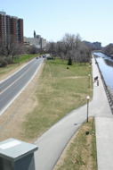 A view South from the Laurier Street Bridge, showing the Colonel  By