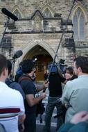 Media people were *everywhere*!