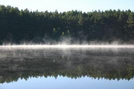 Mist on the eastern arm of Pog lak