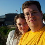 My lovely wife and I at Rideau Falls.