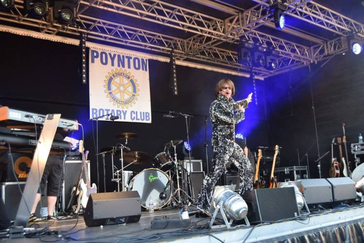 Leroy Lurve gets the crowd rocking at Poyton Party in the Park