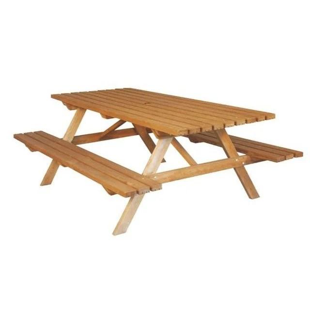 Table De Jardin En Bois Avec Banc Integre Leroy Merlin Novocom Top